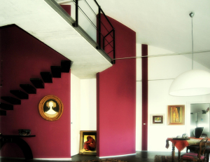 red_staircase_white_livingroom