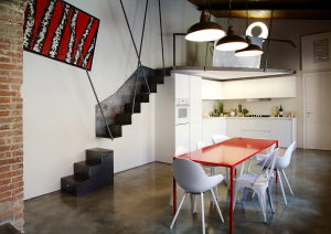red_white_kitchen_staircase