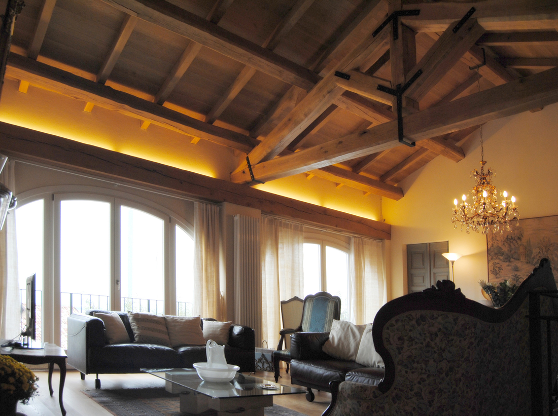 living room_ exposed roof_