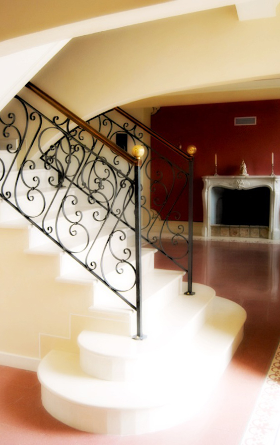 staircase_ red_white
