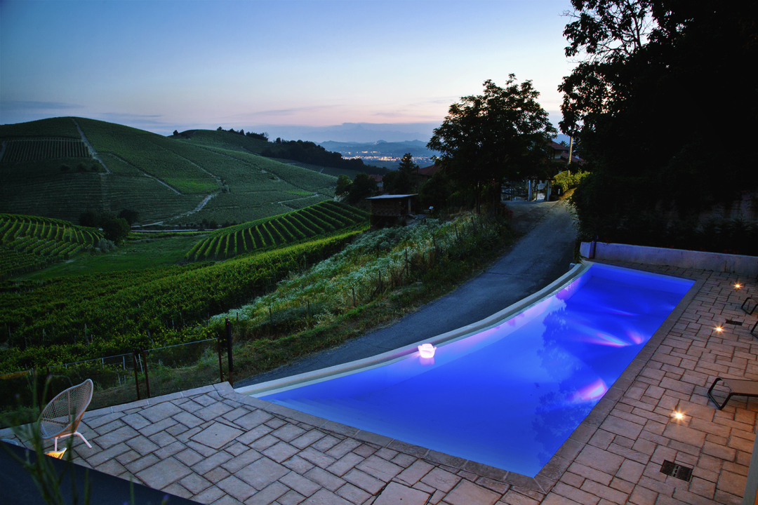 villa in the vineyards , barbaresco